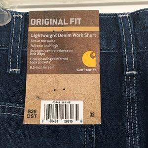 b428588f7b Carhartt Shorts - [Carhartt] Original Denim Work Shorts B28-DST